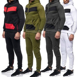 Men Spotrs Suit Two Pieces Set Men's Hoodie Jacket Sweatshirt + Pants Male Hoody Jogging Tracksuit Sportswear Outfit