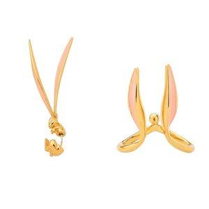 Dangle & Chandelier 1Piece Adorable Ears Drop Earrings Copper Enamel Statements For Women Party Gift Fashion Jewelry