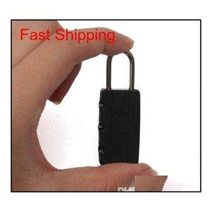 Cerraduras de combinación de seguridad negra de alta calidad Viaje bolsa de equipaje Padlock Gym QyWRS Packing2010