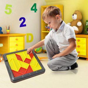 al por mayor de puzzle rompecabezas de madera de regalo para los niños rompecabezas de rompecabezas de madera Creatividad Juguetes educativos junior Tangram Conjunto de Aprendizaje