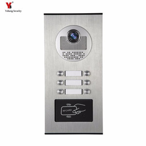 Yobang Security 6 Units Apartment Video Intercom Video Door Phone Outdoor DoorBell IR Camera With Night Vision Can Reader Card