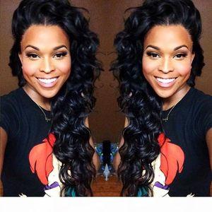 7A Silk Top WiG Deep Wave Silk Base Glueless Полный кружевной парики Парики кружева Передние парики Перуанских волос Человеческие волосы с волосами для волос