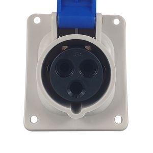 Industrial Y413 200V-250V 16A IP44 2P+E Blue Waterproof Yeeda Socket 5 sets in a pack Wall Socket