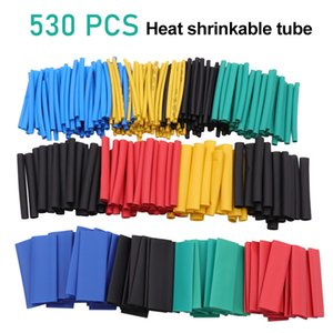 530pcs Heat Shrink Tubing Insulation Shrinkable Tube Assortment Electronic Polyolefin Wrap Wire Cable Sleeve