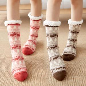 Christmas Warming stoccaggio inverno simpatico calzini di lana donne addensare termico caldo caldo animale calzino moda tappeto calze regalo di natale DHE3789