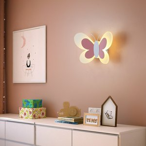 Children's room cartoon wall lamp bedside bedroom boys and girls cartoon net red Nordic creative cute background wall decoration lamp RW474