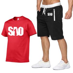 2020 Yeni erkek T-shirt Sao Kılıç Sanatı Online Yaz Rahat Kısa Kollu Yuvarlak Boyun Pamuk ME2020 NN'nin T-shirt + Şort 2 Parça Suit