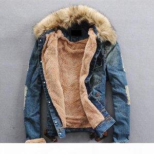 DropShipping Men Winter Denim Jackets and Coats Casual Jean Jackets Thicker Fleece Warm Denim Jean Coats For Male