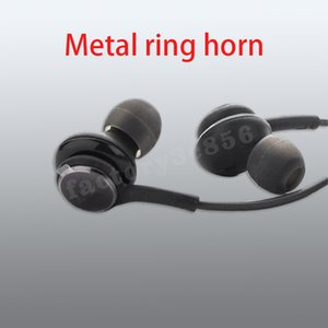 Copper ring horn Earphones For Samsung S10 Earbuds buds retail BOX In Ear wired 3.5mm Bass Headsets Headphones With Volume Control
