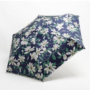 Mini Pocket Umbrella Femmes Super Light Creative 5fold Manuel Pocket style britannique parapluie pluie soleil femmes enfants Paraguas yxluGX bdegarden