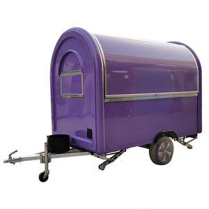 Mobil gıda treyler gıda kamyonu mor