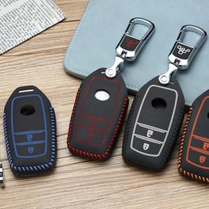 Key Holder 2012-2020 For Toyotas Verso RAV4 Land Cruiser 2 button Car Key bag case wallet holder key coverShell Protector
