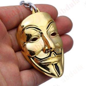 Colores V para colgante Llavero Movie Joyería Máscara de la Cadena Vendetta Chaveiro Key 50pcs Key Hot 4 Ring Souvenir Lqpse
