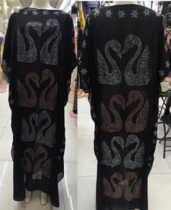 Dress Length:145cm New Fashion dresses Bazin Print Dashiki Women long grown Yomadou Color Pattern oversized