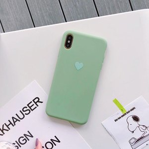 Candy Color Phone Cases For Iphone 6 6s 7 8 Plus X Xr Xs Max Cases Love Heart Silicone Cover For Iphone sqcYZX