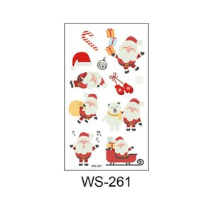 Christmas Luminous Waterproof Tattoo Stickers Merry Christmas Decor For Kids Christmas Gifts Navidad 2020 Happy New Year 2021 sqcnOZ