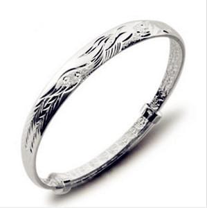 Silver Phoenix Bangles Retro Fashion Ethnic Bracelets Bedford 925 Sterling Silver Hand Jewelry Love Bangle Bracelet For Women ps1917