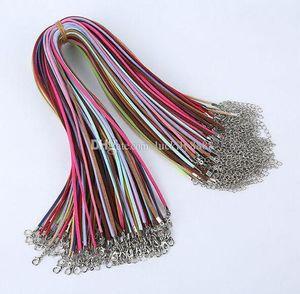 Free Ship 100pcs Mixed Korean Soft Velvet Cord Silver Tone Necklace 10 Colors 45 +5cm