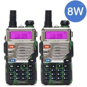 2PCS BaoFeng UV-5RE 8Watts 8w Walkie Talkie Dual Band UV5RE Two-way Radio Handheld 10km Long Range Ham Radioup upgraded of uv-5r1