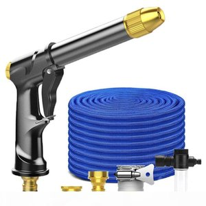 Manguera de jardín aleación boquilla de la pistola ampliable Magic Garden flexible de la manguera de agua de lavado de coches de alta presión el 16FT-150 pies carrete