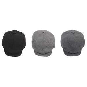 Erkek Caps Şapkalar için Sekizgen Cap Newsboy Bere Şapka Sonbahar Kış