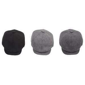 Invierno Octagonal Hombre Beret Cap Hat Caps gorras para Otoño Newsboy DXDUW