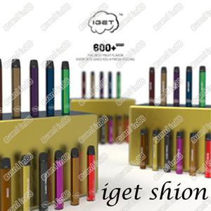 Yeni Iget Shion Pod Tek Kullanımlık Cihaz Pod Starter Kiti 2.4ml Kartuş Vape Nakliye Hızlı 30 adet Her Kutu