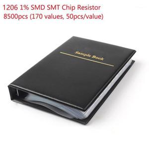 1 set 1206 smd resistor sample book 170values 50 pcs 8500 pcs 1% 0ohm chip resistor kit assortment1