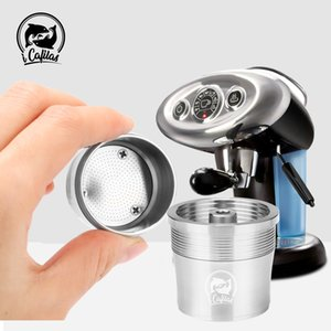 ICalifas Stainless Steel Reusable Filter Refillable Capsule Cup Pod Tamper For Illy Coffee Machine Refill 1021