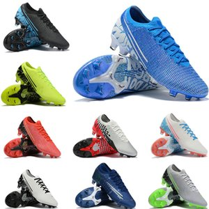 Top Up Big Lace Kids Youth Junior Men Mercurial XIII Elite FG Football Boots Top Lights Soccer Cleats Shoes ACC Grip Speed Freak