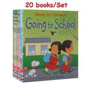 20 Kitaplar / 12 Kitaplar Için 1 Set Çocuklar Usborne Hikayesi Resim Kitaplar Çiftlik Tales Bebek Ünlü İngiliz Kitap Çocuk Eğitim 15x15 cm LJ201118
