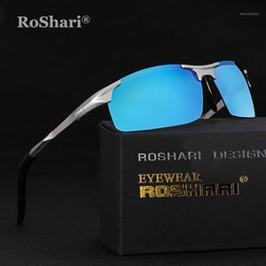Roshari Sports HD 편광 된 선글라스 UV 보호 Ultralight Golf Fishing Goldaya121