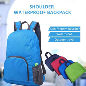 Sports One Strap Shoulder Diagonal Package Folding Backpack Day Bag Polyester 5 Color Cycling Lightweight Handbag Hiking