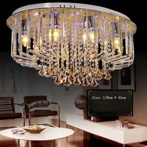 Oval-shaped led ceiling lamp crystal modern style for living room dining room Lustre Ceiling lighting AC 90-260V