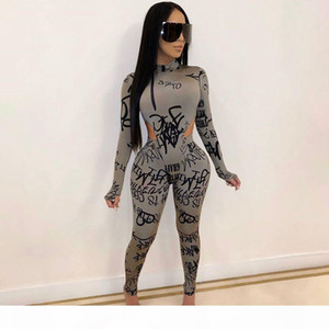 ZKYZWX Sexy 2 Piece Set Women 2020 Spring Clothing Rompers Bodysuit Top Pant Sweat Suits Matching Sets Two Piece Club Outfits