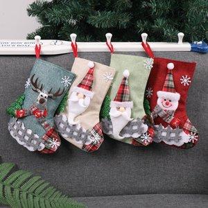 CCreative hristmas Süßigkeit Strumpf-Geschenk-Beutel Bäume Socken Hanging On Wall Weihnachtsdeko