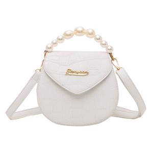 Hot Sale Xiniu Moda Mulheres Serpentine Couro Bandoleira Sacos Handle Bags Pérola ombro Borsa um Tracolla