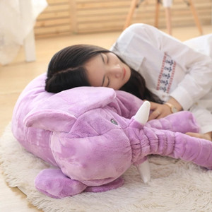 1PC 40 60cm Infant Soft Appease Elephant Playmate Calm Doll Baby Appease Toys Elephant Pillow Plush Toys Stuffed toy 201027