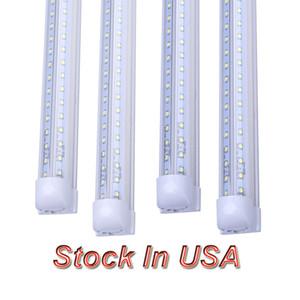 T8 LED Bulbs V Shaped LED Tube 2ft 4ft 5ft 6ft 8ft 8ft Integrated LED Tube Light Replacement Fluorescent Lamp AC85-265V