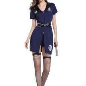 Yao Xintian'ın Yeni Cadılar Bayramı Kostüm Yetişkin Oyunu Üniforma Suit Kadın Özel Polis Giyim