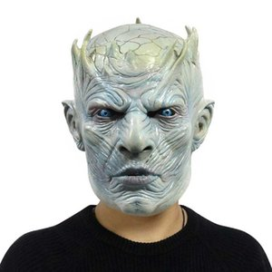 Night King Jocker Full Fac Mask Scary Mask For The Halloween Party Costume Masquerade Cosplay Old Bald Grandpa Beard Silicone Mask