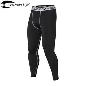 Erkekler için Yisheng Sıkıştırma Taytları Vücut Geliştirme Hızlı Kuru Spor Sıkı Pantolon1