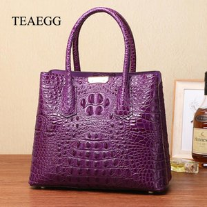 TEAEGG قفل حقيبة يد الغروب جلد البقر حقيبة SAC DE JOUR النساء الذهبي قفل الأجهزة كتف حقيبة
