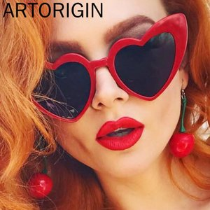 Sunglasses Red Heart Shaped Women Brand Designer Leopard Sweety Party Glasses Ladies Eyewear Sexy Black Frame