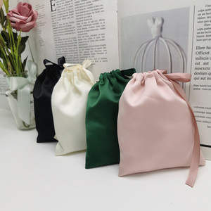 Dust Proof Jewelry Jewellery Bag Silk Boutique Drawstring Packaging Cosmetic Crafts Satin Pouches Storage Shop Gift Ideas Mnoel