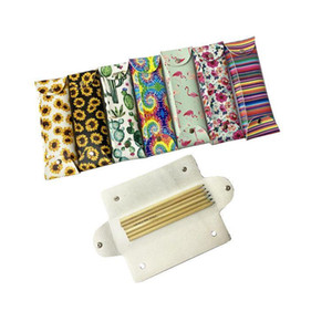 Striped PU Leather Masks Organizer Bag NEW Mask Storage Bags Sunflower Cactus Case Portable Dustproof Protective Cover