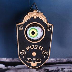 Animato campanello con Light-up Occhi suono talking Eyeball Campanello Ognissanti Prop Spettrale giocattolo per Pasqua decorazione di Halloween Y201006