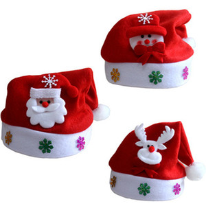 Santa Claus Hat Red Velvet Christmas Hat Christmas Decor Party Supplies Xmas Party Supplies for Children