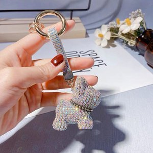 Fashion diamond-encrusted claw chain dadougou key chain Cartoon Doll pendant gift high-end firewood dog Women's gifts creative gifts Pendant