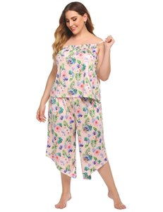 2021 New Arrivals Womens Designer Plus Size Tracksuits Summer Sleeveless Floral Print 2PCS Set Fashion Casual Women Clothes